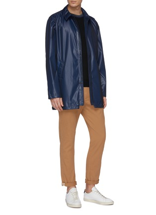 Figure View - Click To Enlarge - PS PAUL SMITH - Micro check mac coat