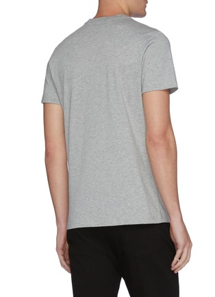 Back View - Click To Enlarge - PS PAUL SMITH - Geometric print organic cotton T-shirt