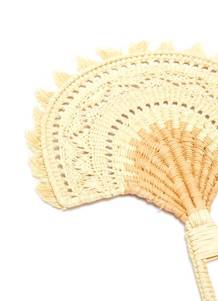 Detail View - Click To Enlarge - SENSI STUDIO - Woven toquilla straw fan