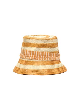 Main View - Click To Enlarge - SENSI STUDIO - Stripe toquilla straw bucket hat
