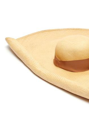 Detail View - Click To Enlarge - SENSI STUDIO - Wide brim toquilla straw hat