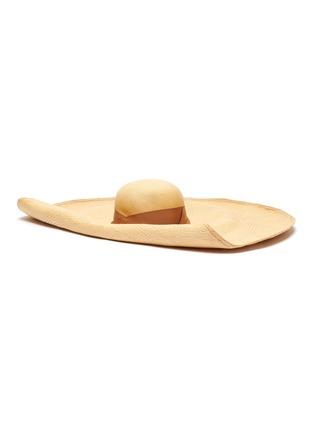 Main View - Click To Enlarge - SENSI STUDIO - Wide brim toquilla straw hat