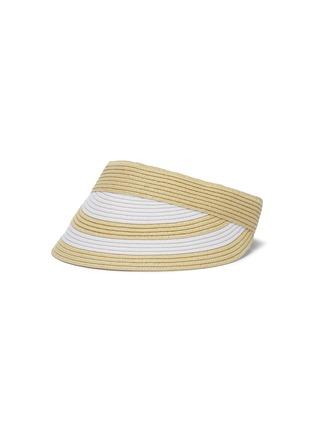 Main View - Click To Enlarge - SENSI STUDIO - Stripe straw visor