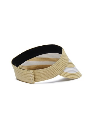 Figure View - Click To Enlarge - SENSI STUDIO - Stripe straw visor