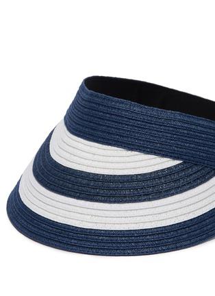 Detail View - Click To Enlarge - SENSI STUDIO - Stripe straw visor