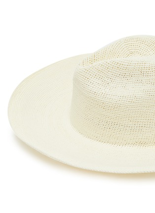 Detail View - Click To Enlarge - SENSI STUDIO - Lace-up toquilla straw hat