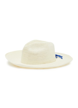 Main View - Click To Enlarge - SENSI STUDIO - Lace-up toquilla straw hat