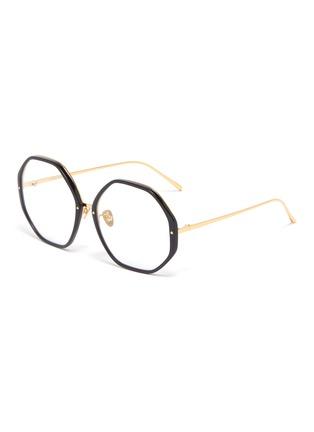 2b1c04b189 Linda Farrow. Acetate rim metal oversized octagonal frame optical glasses