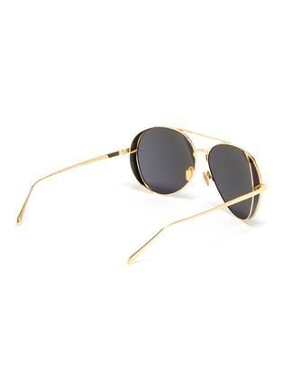 Figure View - Click To Enlarge - LINDA FARROW - Spoiler metal aviator sunglasses