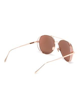 Figure View - Click To Enlarge - LINDA FARROW - Spoiler mirror metal aviator sunglasses