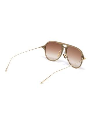 Figure View - Click To Enlarge - LINDA FARROW - Metal temple acetate aviator sunglasses