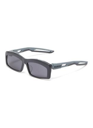 Main View - Click To Enlarge - Balenciaga - 'Hybrid' cutout temple acetate rectangle sunglasses
