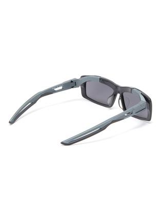 Figure View - Click To Enlarge - Balenciaga - 'Hybrid' cutout temple acetate rectangle sunglasses