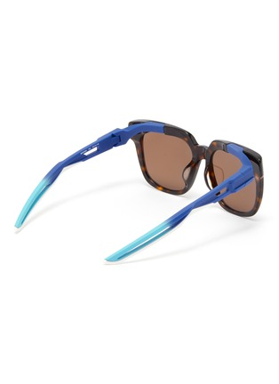 Figure View - Click To Enlarge - BALENCIAGA - 'Hybrid' cutout temple tortoiseshell acetate D-frame sunglasses