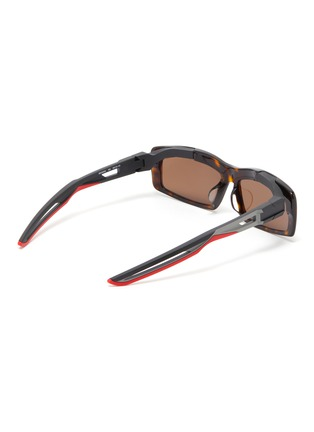 Figure View - Click To Enlarge - Balenciaga - 'Hybrid' cutout temple tortoiseshell acetate rectangle sunglasses