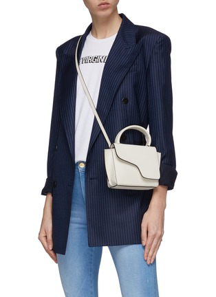 Front View - Click To Enlarge - ATP ATELIER - 'Montalcino' mini top handle leather bag