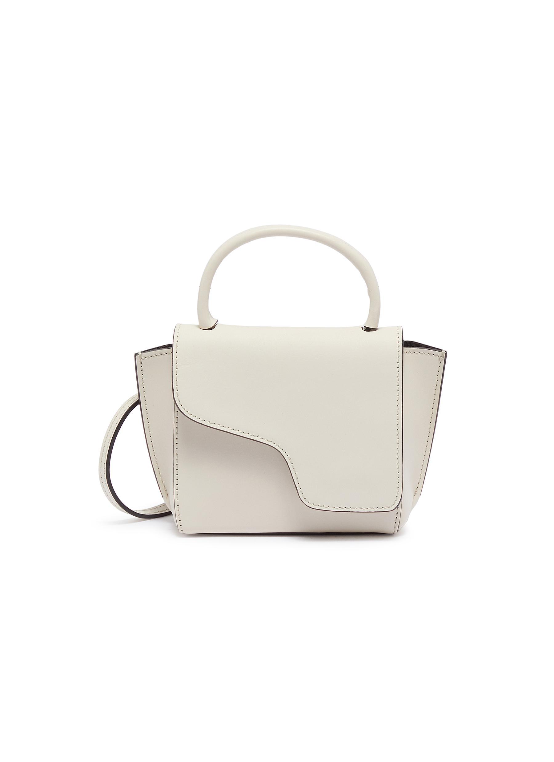 Atp Atelier 'Montalcino' Mini Top Handle Leather Bag In White