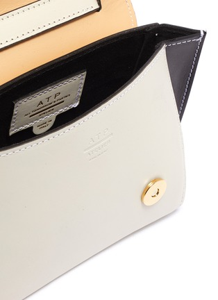 Detail View - Click To Enlarge - ATP ATELIER - Montalcino' colourblock mini top handle leather bag