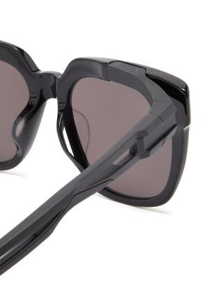 Detail View - Click To Enlarge - BALENCIAGA - 'Hybrid' cutout temple acetate D-frame sunglasses