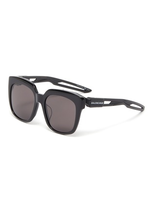 Main View - Click To Enlarge - BALENCIAGA - 'Hybrid' cutout temple acetate D-frame sunglasses