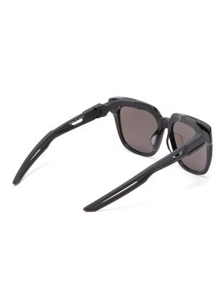 Figure View - Click To Enlarge - BALENCIAGA - 'Hybrid' cutout temple acetate D-frame sunglasses
