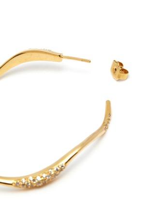 Detail View - Click To Enlarge - JOANNA LAURA CONSTANTINE - 'Feminine Waves' Swarovski crystal hoop earrings