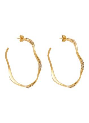 Main View - Click To Enlarge - JOANNA LAURA CONSTANTINE - 'Feminine Waves' Swarovski crystal hoop earrings