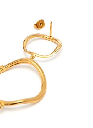 Detail View - Click To Enlarge - JOANNA LAURA CONSTANTINE - 'Feminine Waves' pearl hoop drop earrings