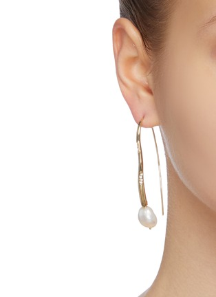 Figure View - Click To Enlarge - JOANNA LAURA CONSTANTINE - 'Feminine Waves' pearl Swarovski crystal drop earrings