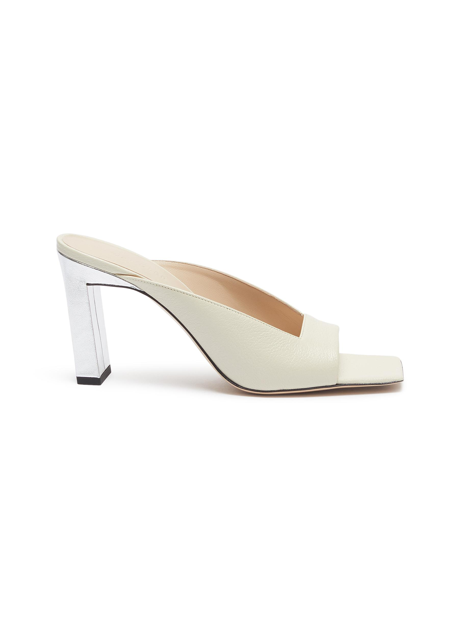 Isa square vamp leather sandals by Wandler