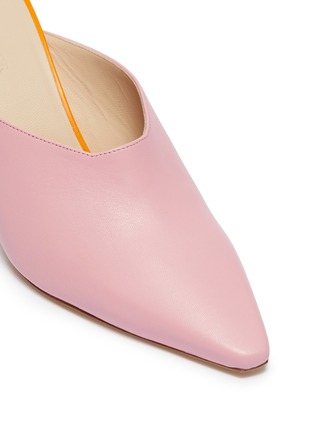 Detail View - Click To Enlarge - Wandler - 'Lotte' colourblock leather mules