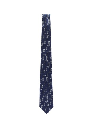 Detail View - Click To Enlarge - Paul Smith - Utensil print silk tie