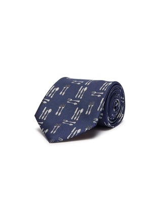 Main View - Click To Enlarge - Paul Smith - Utensil print silk tie