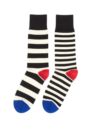 Main View - Click To Enlarge - Paul Smith - Asymmetric stripe socks