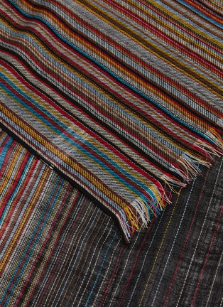 Detail View - Click To Enlarge - PAUL SMITH - 'Artist Stripe' gradient lambswool scarf