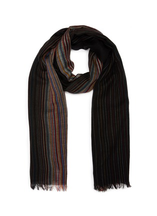 Main View - Click To Enlarge - PAUL SMITH - 'Artist Stripe' gradient lambswool scarf
