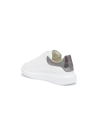 - ALEXANDER MCQUEEN - 'Oversized Sneaker' in leather with holographic collar