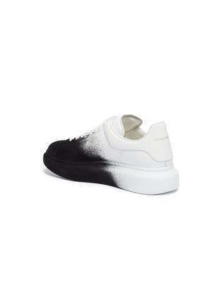 - ALEXANDER MCQUEEN - 'Oversized Sneaker' in colourblock flocked leather