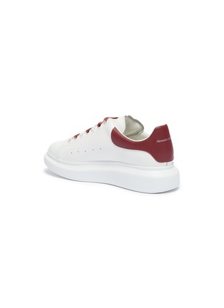 - ALEXANDER MCQUEEN - 'Oversized Sneaker' in leather with dégradé lace