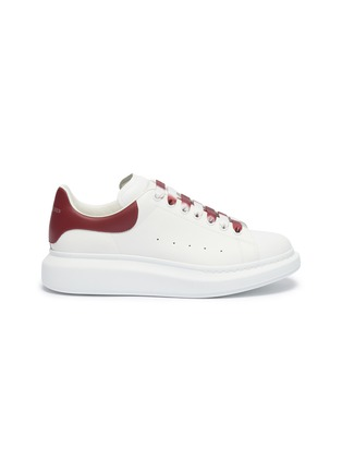 Main View - Click To Enlarge - ALEXANDER MCQUEEN - 'Oversized Sneaker' in leather with dégradé lace