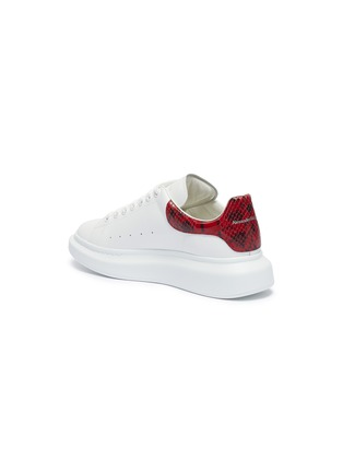 - ALEXANDER MCQUEEN - 'Oversized Sneaker' in leather with python embossed collar
