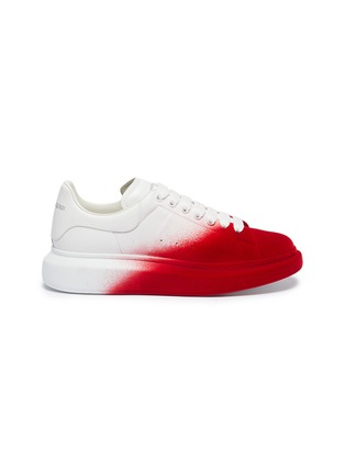 Main View - Click To Enlarge - ALEXANDER MCQUEEN - 'Oversized Sneaker' in colourblock flocked leather