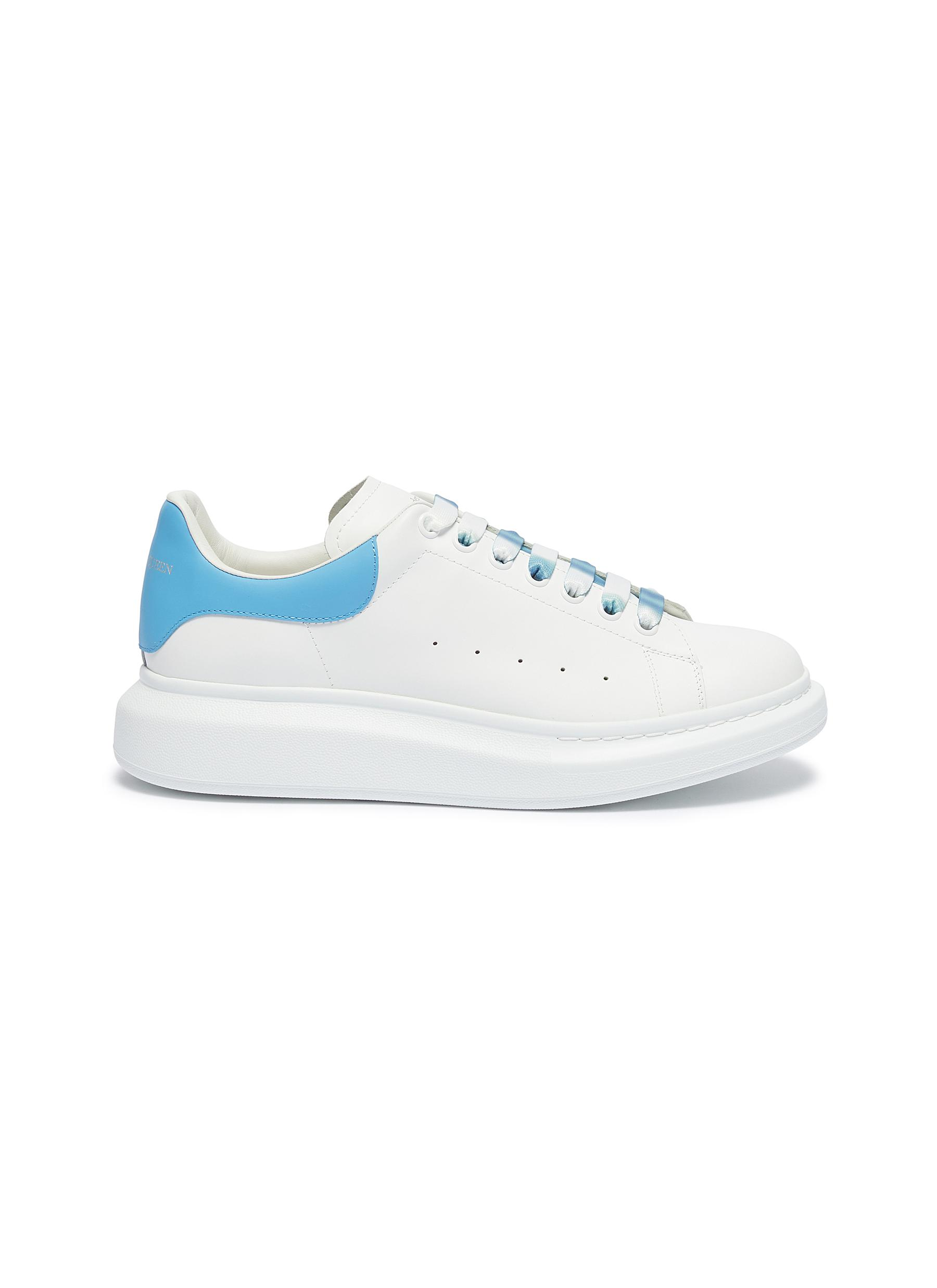 Alexander Mcqueen Sneakers 'Oversized Sneaker' in leather with dégradé lace
