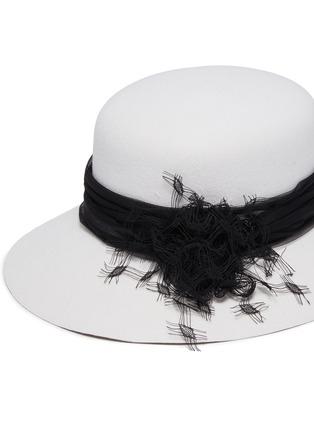 Detail View - Click To Enlarge - MAISON MICHEL - Tulle felt hat