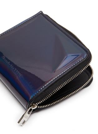 Detail View - Click To Enlarge - ALEXANDER MCQUEEN - Iridescent leather zip around wallet