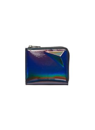 Main View - Click To Enlarge - ALEXANDER MCQUEEN - Iridescent leather zip around wallet