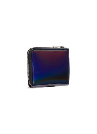 Figure View - Click To Enlarge - ALEXANDER MCQUEEN - Iridescent leather zip around wallet