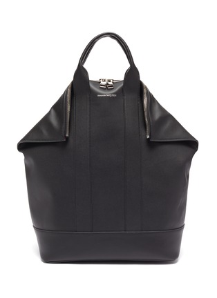 Main View - Click To Enlarge - ALEXANDER MCQUEEN - 'De Manta' leather backpack tote
