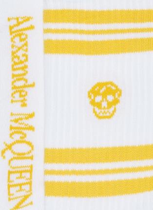 Detail View - Click To Enlarge - ALEXANDER MCQUEEN - Stripe skull socks