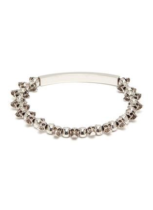 Back View - Click To Enlarge - ALEXANDER MCQUEEN - Skull chain bracelet